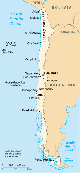 Southern Patagonia - Map argentina national parks